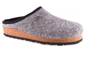 GRUNLAND ROBI CB0173 11 GRIGIO ANTRACITE ciabatte pantofole tirolesi in lana cotta invernali calde comode ciabatta pantofola tirolese in feltro per la casa e camera merinos uomo
