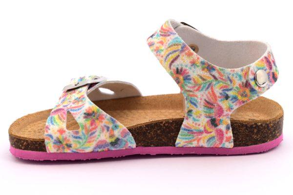 PRIMIGI 1426700 PANN bianco scarpe sandali bambina sottopiede sughero fibbie brillantini