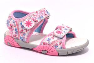 PRIMIGI 1456100 BIANCO rosa scarpe sandali bambina strappi