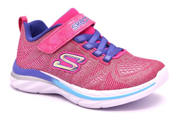 SKECHERS 81290L HPMT FUXIA VIOLA shimmer dance rosa scarpe sneakers bambina estive strappi memory foam