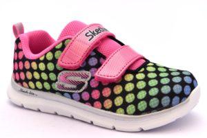 SKECHERS 82064N BKMT ROSA FUCSIA lil' dots fuxia scarpe sneakers bambina estive strappi pois