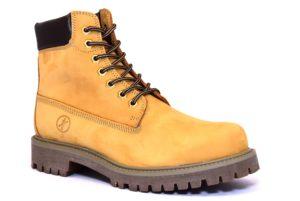CAFE NOIR LRR601 109 RR601 CUOIO giallo giallone scarpe uomo polacco invernale autunno inverno carrarmato stringata lacci vera pelle cafè noir