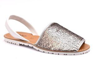 DIVINE FOLLIE 550 PLATA argento scarpe sandali bassi fascianti donna  minorchine paillettes d8790ab8318