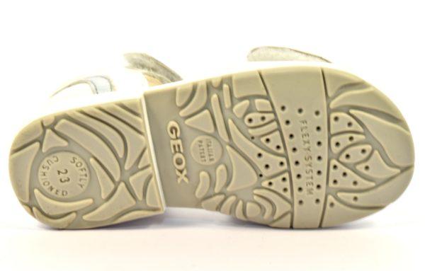 GEOX B7221B 044Y2 C0007 SAN VERRED BIANCO white silver scarpe sandali bambina strappi vera pelle