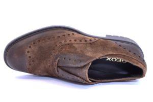 GEOX KAPSIAN U743PA 00023 C6027 CUOIO Scarpe Inglesine Uomo Elegante Invernale Pelle
