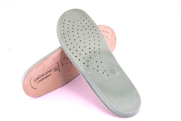 GRUNLAND XX0817 ricambio plantare lattice estraibile Dry-Go lattice vera pelle ciabatte calzature donna soletta sottopiede Laba Dara Ines Finn Nesi Dogo beige