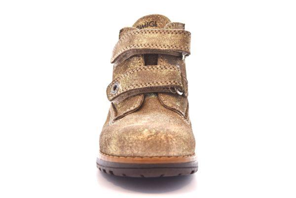PRIMIGI 80599 00 TAUPE oro beige scarpe scarponcino polacco bambina strappi invernale vera pelle