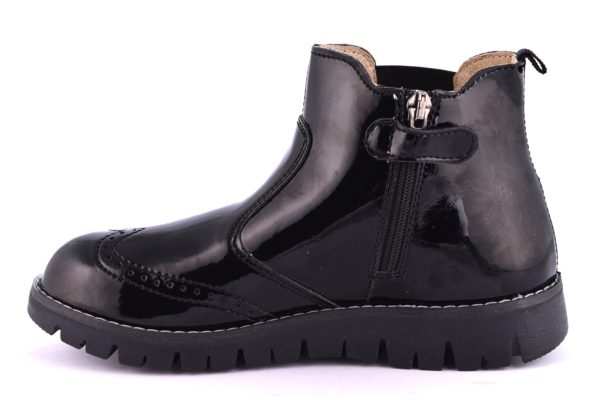 PRIMIGI 85982 00 NERO scarpe stivale polacco bambina invernale beatles vernice cerniera
