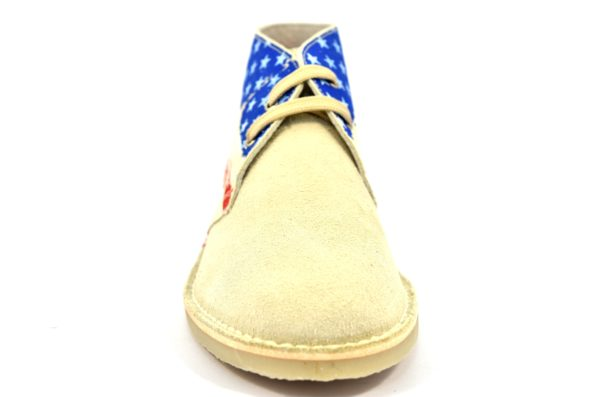 SAFARI NATURAL 2887 SERRAJE BEIGE scarpe clark desert boot polacchine donna stringate scarponcini pedule camoscio vera pelle