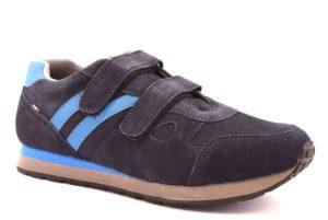 VECCHIA CUOIERIA 84 4367 NAVY BLU Scarpe Sneakers Uomo Lavoro Strappi