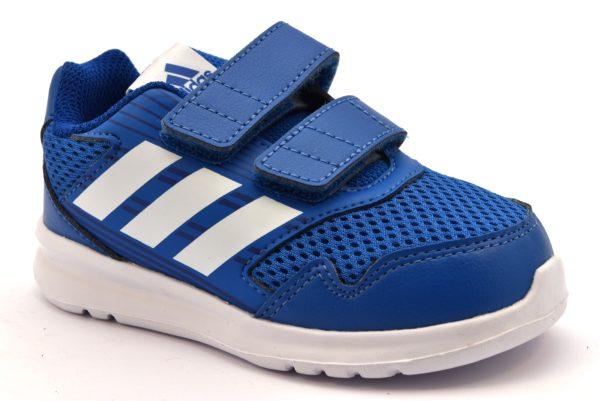 ADIDAS ALTARUN CF I CQ0028 BLU bianco scarpe ginnastica bambino strappi tessuto
