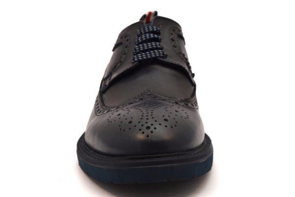 CAFè NOIR JRP134 228 RP134 BLU scarpe sneakers stringate lacci uomo invernali inglesi eleganti inglesine francesine derby collezione autunno inverno 2018 19