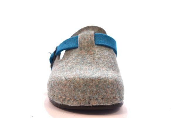 GRUNLAND REPS CI0795 A6 GRIGIO SKY ciabatte pantofole tirolesi in lana cotta invernali calde comode ciabatta pantofola tirolese in feltro per la casa e camera merinos donna