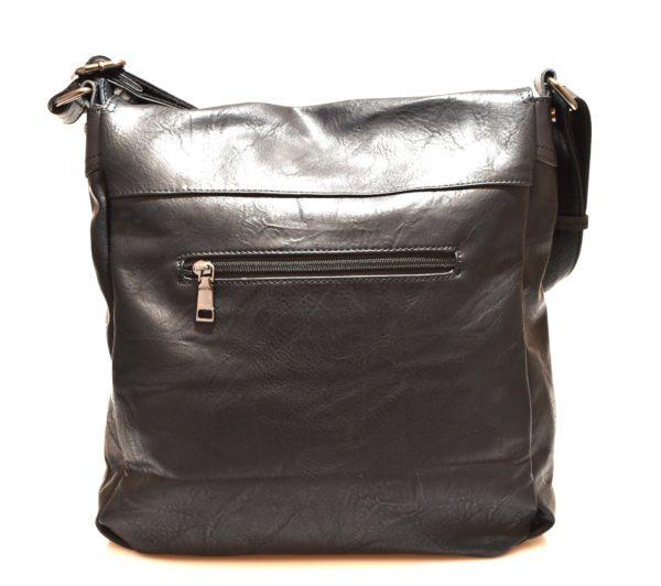TRACOLLA 2419 NERO Postino Borsa a spalla, cartella, tascapane con patella e vano unico chiusa con cerniera, casual tempo libero, viaggio ufficio
