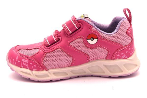 GEOX J8206D 014BU C8230 J SHUTTLE FUCSIA ROSA scarpe bambina sneakers pokemon scuola strappi luci led collezione autunno inverno 2018 19
