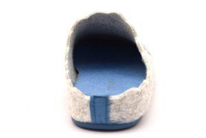 ADEL CI1369 38 GHIACCIO AVIO grigio celeste ciabatte pantofole tirolesi in lana cotta invernali calde comode ciabatta pantofola tirolese in feltro per la casa e camera merinos panno stampa sveglia donna