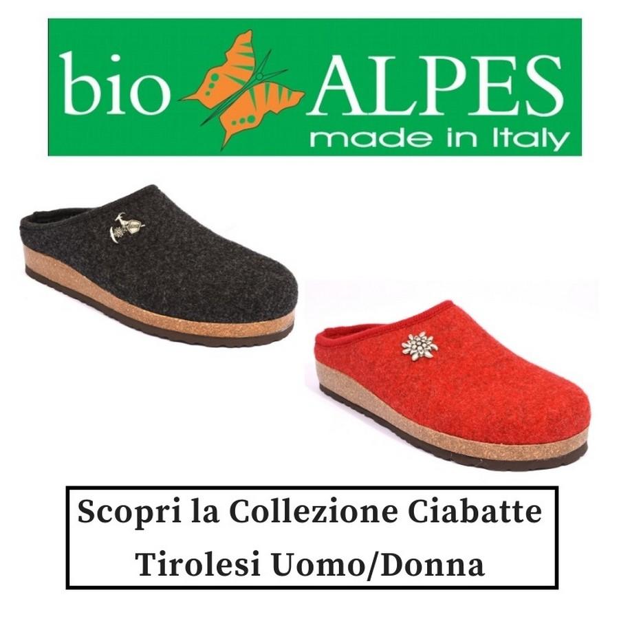 Bio Alpes Ciabatta pantofola in Lana Cotta calde dell' trentino alto adige Ciabatte Pantofole Donna Tirolesi Inverno collezione autunno inverno 2018 19