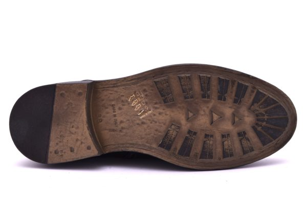 DIVINE FOLLIE 36765 TERRY NERO Anfibio anfibi stivali stivaletti polacchine stringate scarponcini moda donna collezione autunno inverno 2018 19