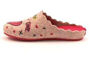 GRUNLAND ADEL CI1404 38 CIPRIA FUXIA rosa ciabatte pantofole tirolesi in lana cotta invernali calde comode ciabatta pantofola tirolese in feltro per la casa e camera merinos panno stampa cuore donna