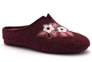 GRUNLAND ADRI CI1383 47 BORDO' ciabatte pantofole tirolesi in lana cotta invernali calde comode ciabatta pantofola tirolese in feltro per la casa e camera merinos fiori donna