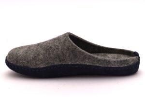 GRUNLAND APAC CI1397 A6 GRIGIO BLU MERINOS ciabatte pantofole tirolesi in lana cotta invernali calde comode ciabatta pantofola tirolese in feltro per la casa e camera uomo