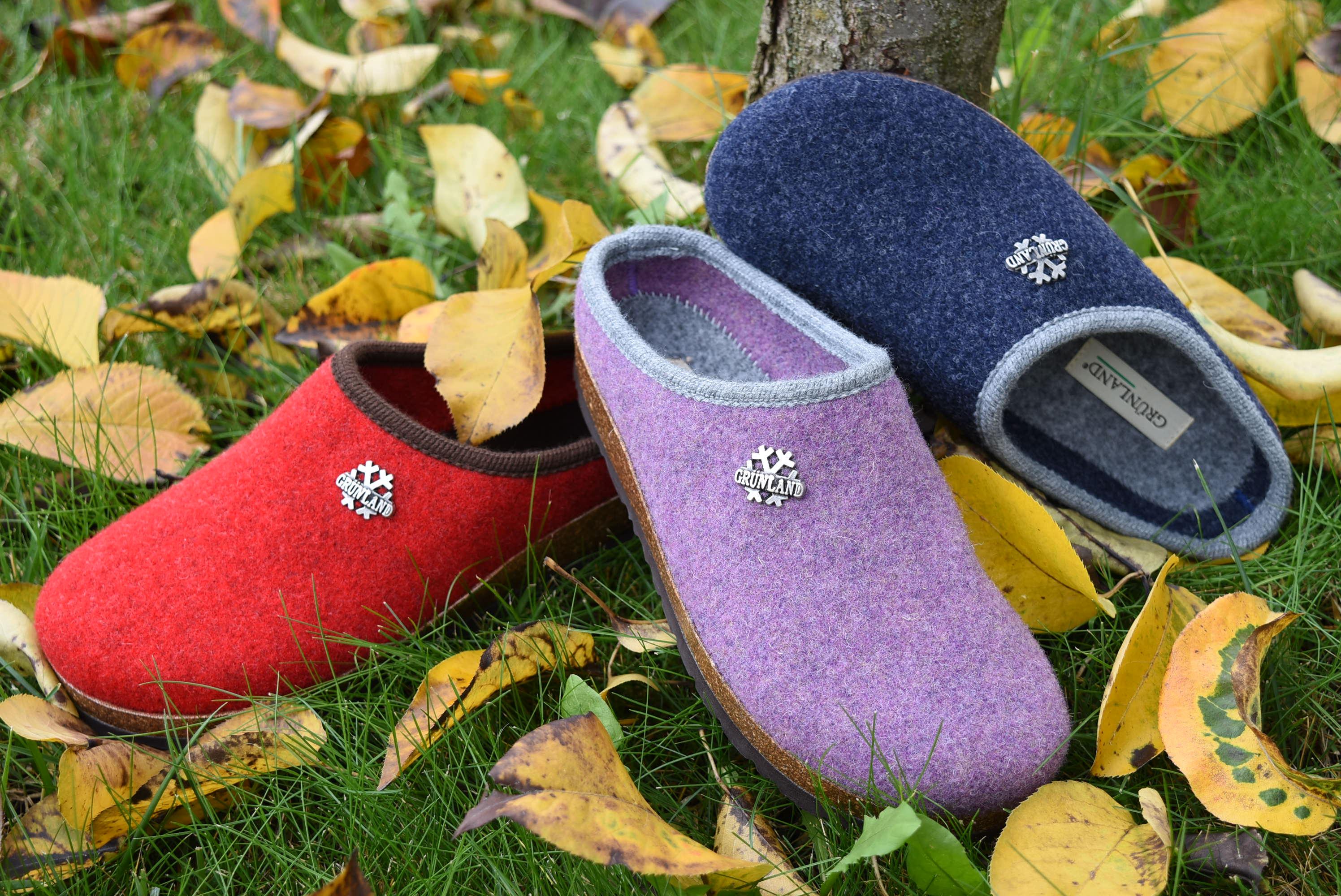 GRUNLAND CB0169 11 Ciabatte Pantofole Tirolese Donna Lana Cotta Feltro Tirolesi