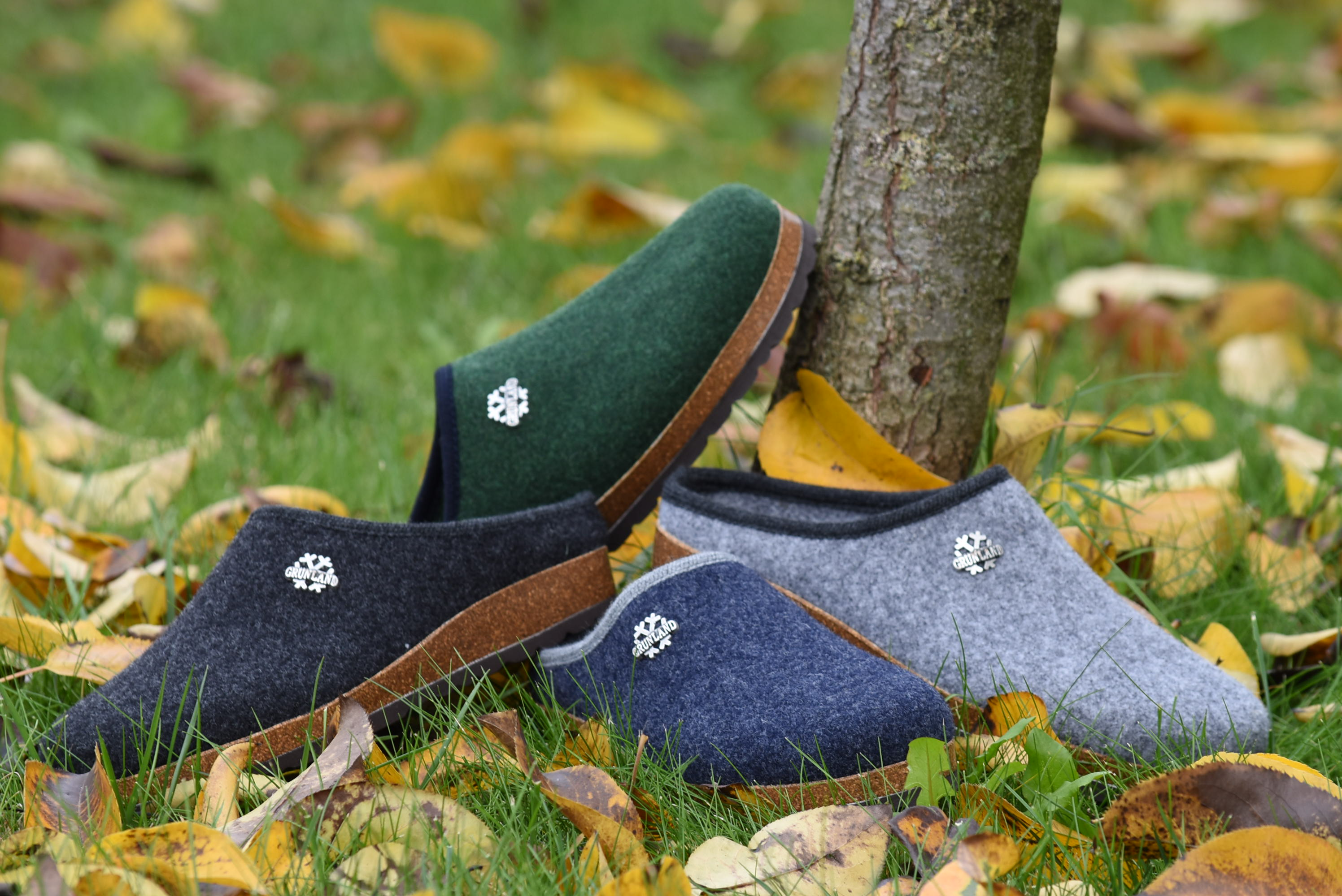 GRUNLAND CB0173 11 Ciabatte Pantofole Tirolese Uomo Lana Cotta Feltro Tirolesi