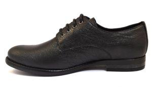 IGIeCO 2183200 NERO scarpe francesine inglesine eleganti lacci stringhata moda donna invernale collezione autunno inverno pelle 2018 19