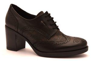 IGIeCO 2188500 NERO scarpe francesine inglesine tacco medio eleganti lacci stringhata moda donna invernale collezione autunno inverno 2018 19