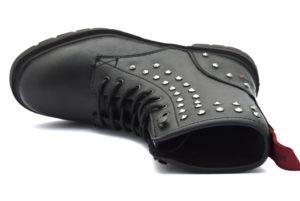 WRANGLER WL182702 NERO Anfibio anfibi stivali stivaletti polacchine stringate scarponcini moda donna collezione autunno inverno 2018 19