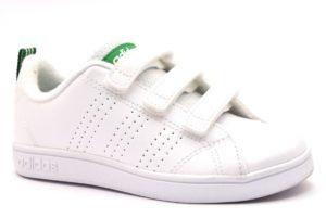 ADIDAS AW4880 BIANCO VERDE scarpe sneakers bambino bambina collezione autunno inverno strappi scarpe da ginnastica pelle 2018 19