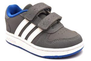 ADIDAS HOOPS 2 0 CMFI B75964 GRIGIO BIANCO scarpe sneakers bambino collezione autunno inverno strappi scarpe da ginnastica pelle 2018 19