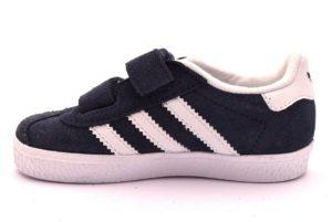 ADIDAS GAZELLE CQ3138 BLU BIANCO scarpe sneakers bambina bambino collezione autunno inverno strappi scarpe da ginnastica pelle 2018 19