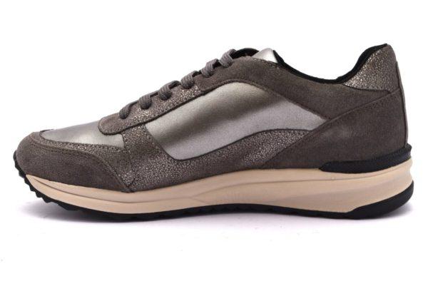 GEOX D642SC D AIRELL GRIGIO scarpe sneakers donna collezione autunno inverno 2018 19 invernali Slipon platform vera pelle