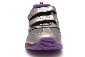 GEOX J8445B 0AJAS C1335 J ANDROID rigio rosa viola scarpe sneakers luci bambina collezione autunno inverno strappi scarpe da ginnastica pelle strass brillantini 2018 19