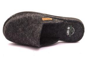 GRUNLAND ZIPO CI1733 G7 ANTRACITE Ciabatte Pantofole Uomo Invernali Panno Chiuse Calde Autunno inverno 2018 19
