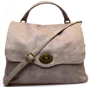 Hand Bag 2420 D Grey tortora Borsa a mano postino sacca tracolla manico cartella shopping collezione autunno inverno primavera estate ecopelle