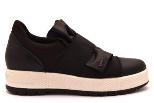 IGIeCO 2157700 NERO bianco scarpe sneakers donna collezione autunno inverno 2018 19 invernali Slipon platform Vernice vera pelle