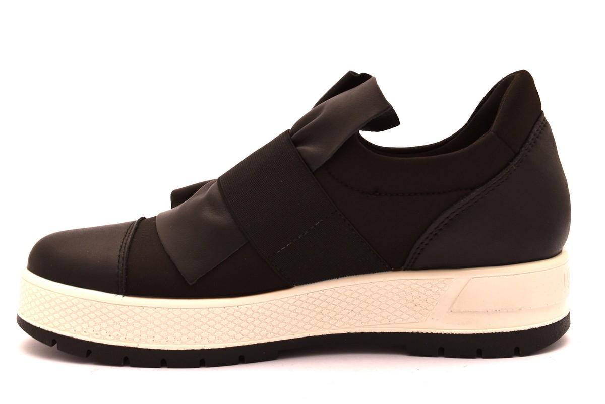 8c7b1c8035fe1 IGIeCO 2157700 NERO bianco scarpe sneakers donna collezione autunno inverno  2018 19 invernali Slipon platform Vernice