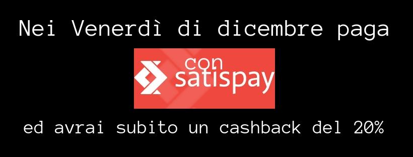 banner paga con satispay venerdì cash back del 20% alla cassa www.shoesmyfriends.it regali di natale sconti offerte promozioni natalizie regalo di natale