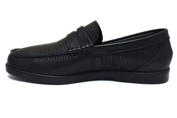 Igieco 3109500 nero mocassino slipon scarpe senza lacci vera pelle collezione primavera estate