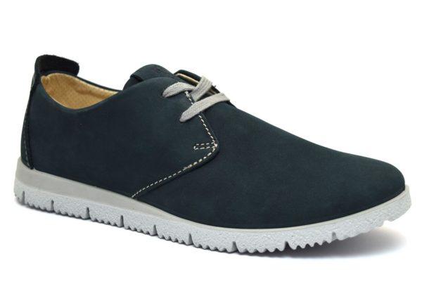 Igieco 3122122 blu Scarpe sneakers in nabuk morbido da uomo stringate collezione primavera estate