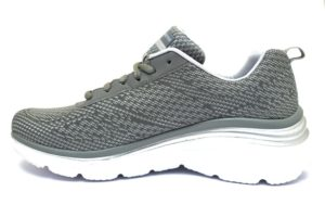 SKECHERS 12719 GYLV GRIGIO scarpe sneakers donna primavera estate estive allacciate stringate scarpe da ginnastica memory foam air cooled