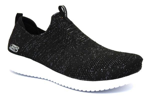 SKECHERS 13113 BKSL NERO scarpe sneakers donna primavera estate estive allacciate stringate scarpe da ginnastica memory foam air cooled