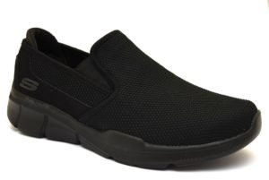 SKECHERS 52937 BBK NERO scarpe sneakers uomo primavera estate slipon memory foam air cooled sarpe ammortizzate