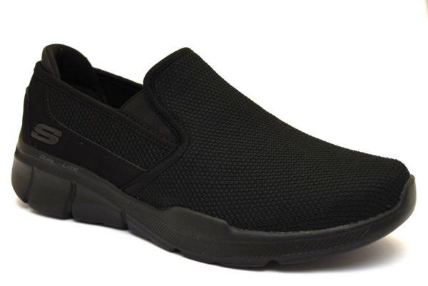 SKECHERS 52937 BBK NERO scarpe sneakers uomo primavera estate slipon memory foam air cooled sarpe ammortizzate