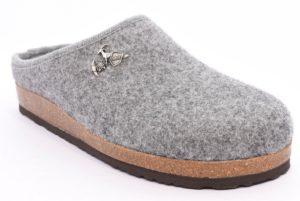 bio alpes 976 grigio ciabatte tirolesi in pura lana cotta merinos made in italy collezione autunno inverno