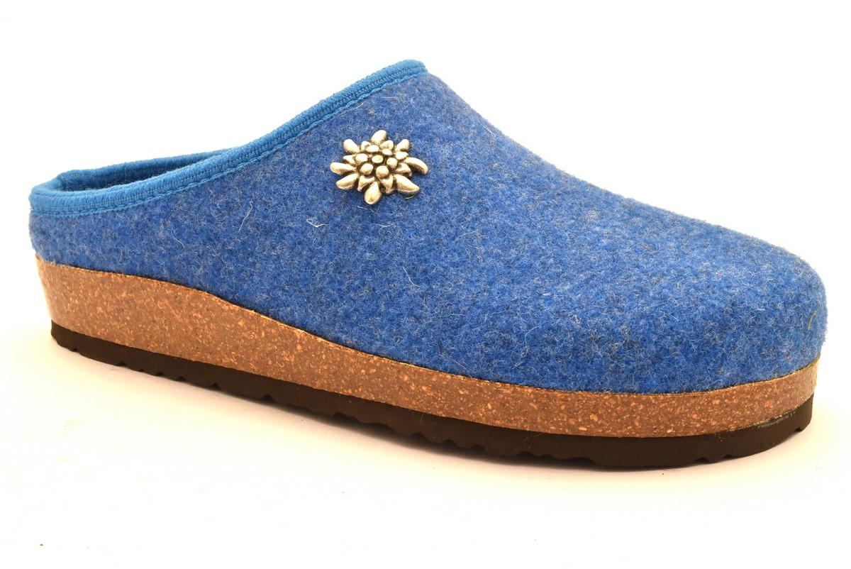 bio alpes 977 celeste ciabatte tirolesi in pura lana cotta merinos made in italy collezione autunno inverno donna