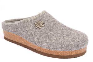 bio alpes 977 grigio ciabatte tirolesi in pura lana cotta merinos made in italy collezione autunno inverno donna
