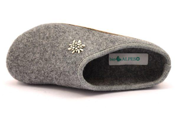 bio alpes 977 grigio ciabatte tirolesi in pura lana cotta merinos made in italy collezione autunno inverno